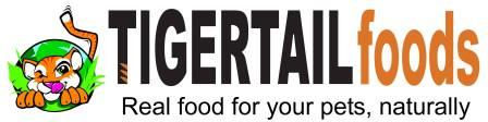 TigerTail Raw Food logo with tag line